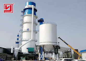50tpd Nature Gas Lime Plant , Quicklime Vertical Shaft Kiln Plant Plc Control